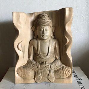 Buddha wood sculpture